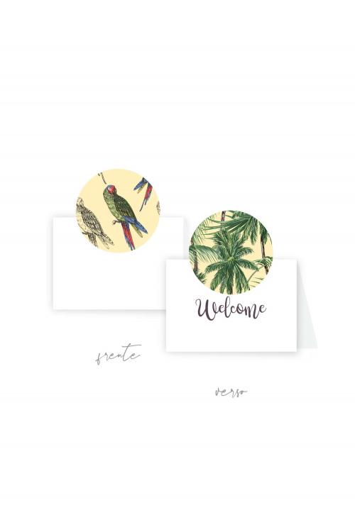 Cartão Boas-vindas Litoral| Dupla face. A partir de