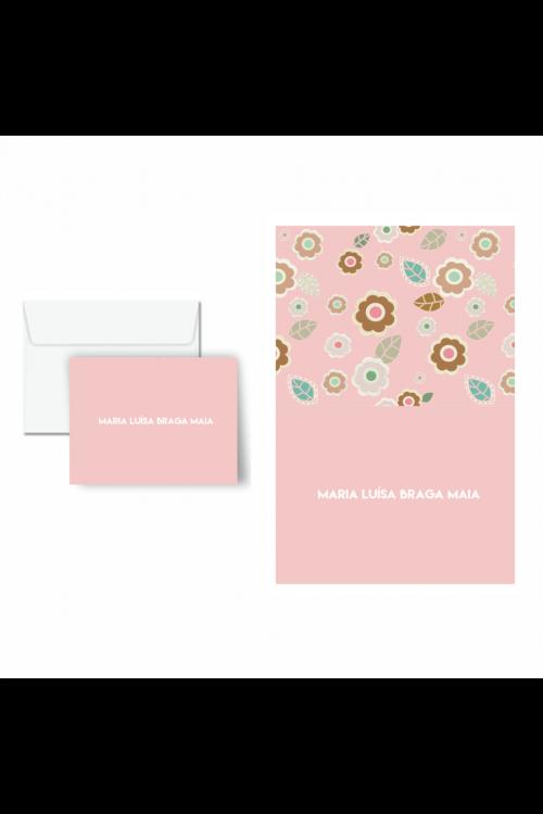 Cartão De Mensagem Infantil Flor De Chocolate | a partir de 10 unidades