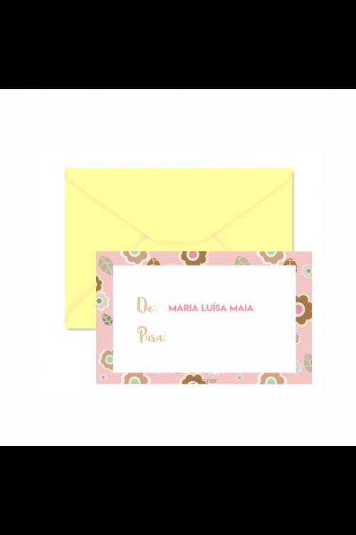 Mini Cartões De/Para Flor De Chocolate | a partir de 32 unidades