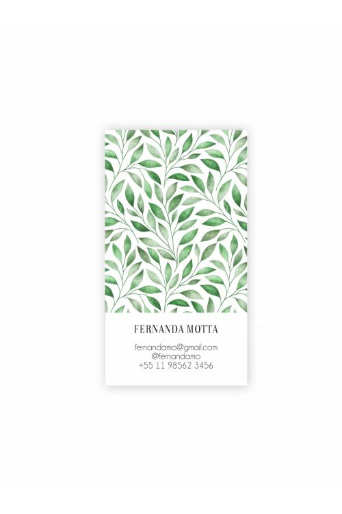 Hello Cards Folhas Aquarela