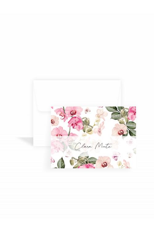 Cartão Orquídeas Classic   a partir de 10 unidades
