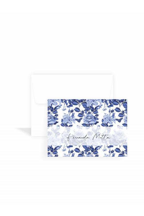 Cartão Blue Garden Classic | a partir de 10 unidades