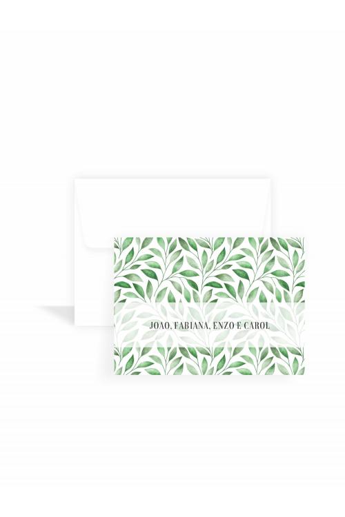 Cartão Folhas Aquarela Classic | a partir de 10 unidades