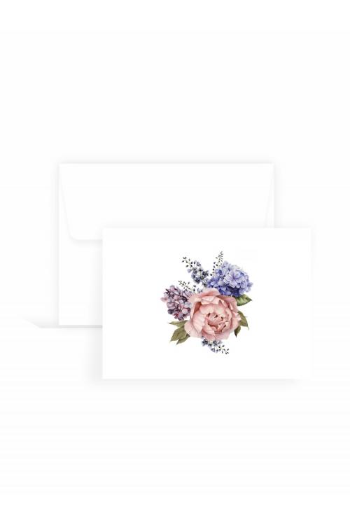 Cartão Jardim de Hortênsias | 10 unidades